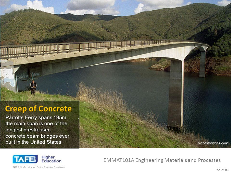 Creep of Concrete EMMAT101A Engineering Materials and Processes