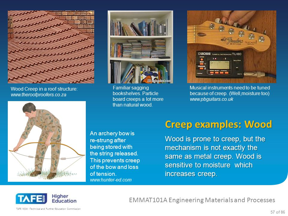 Wood Creep in a roof structure: www.theroofproofers.co.za