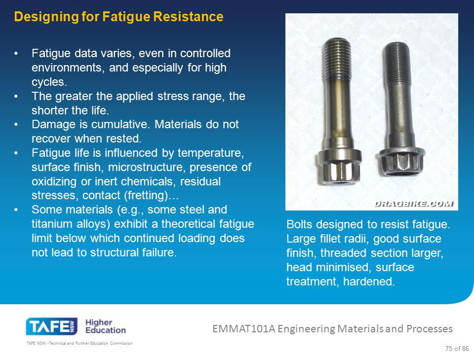 Designing for Fatigue Resistance