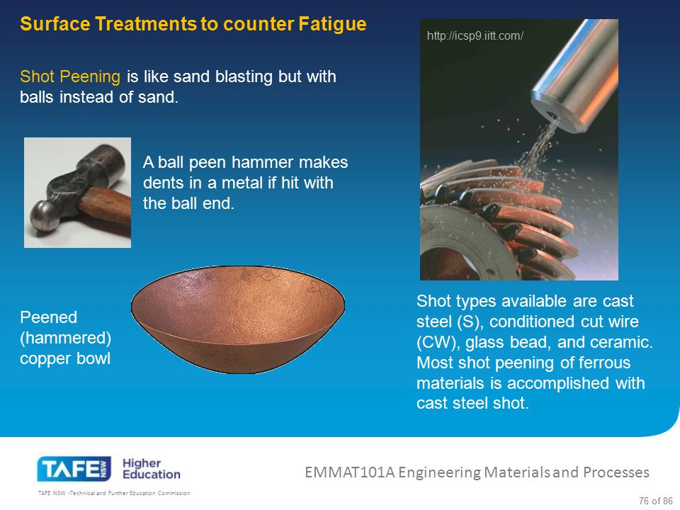 Surface Treatments to counter Fatigue