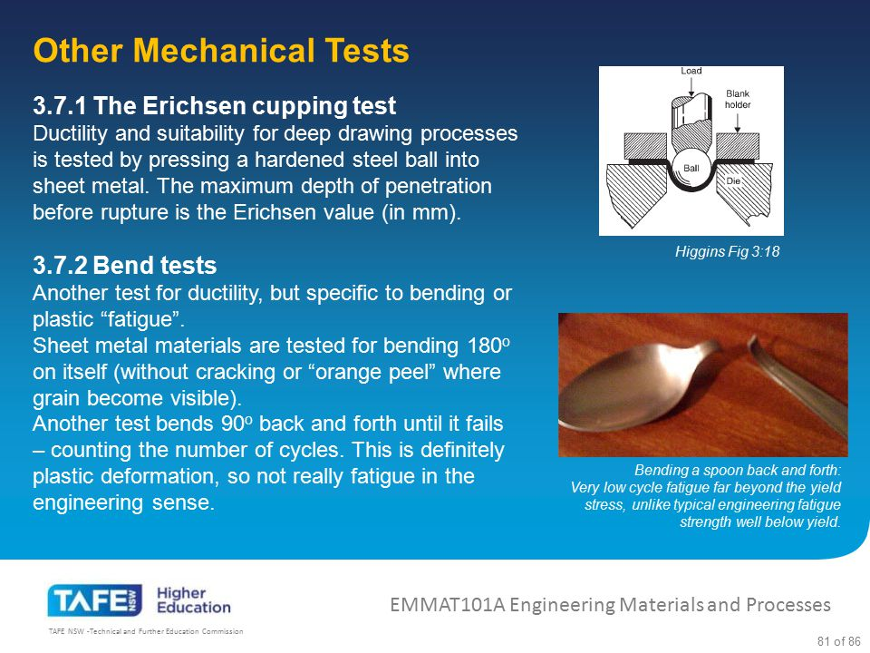 Other Mechanical Tests