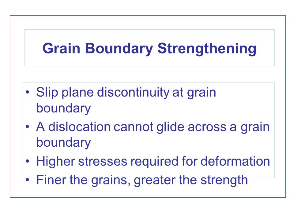 Grain Boundary Strengthening