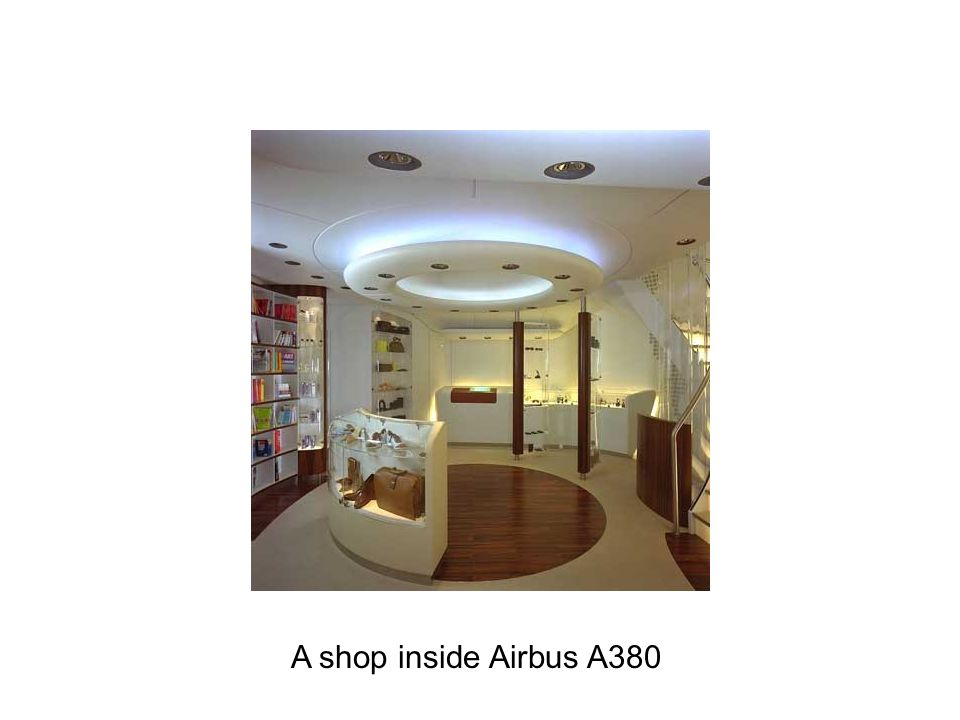 A shop inside Airbus A380