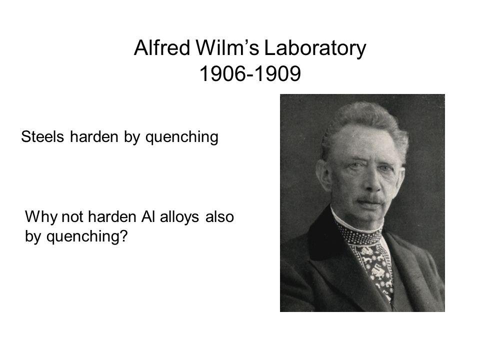Alfred Wilm's Laboratory 1906-1909