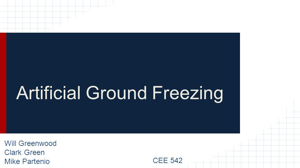Artificial Ground Freezing