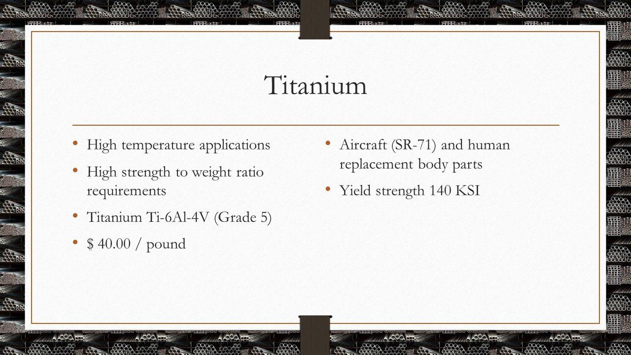 Titanium High temperature applications