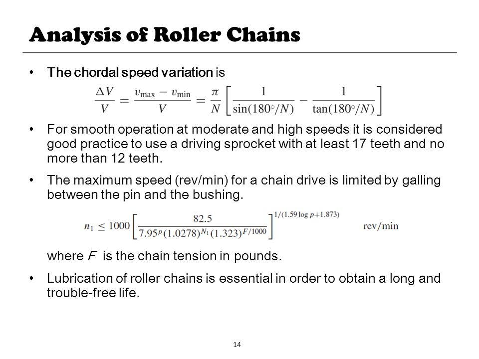 Analysis of Roller Chains