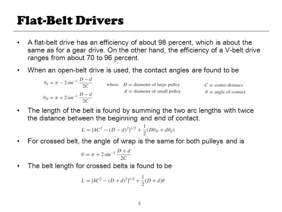 Flat-Belt Drivers