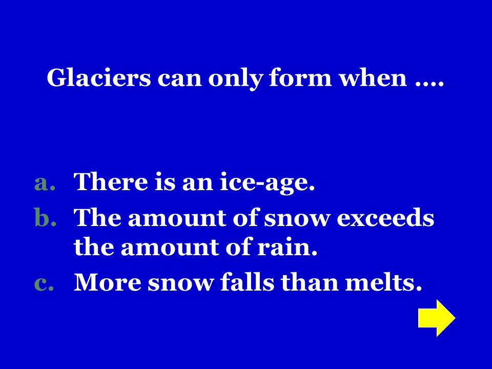 Glaciers can only form when ….