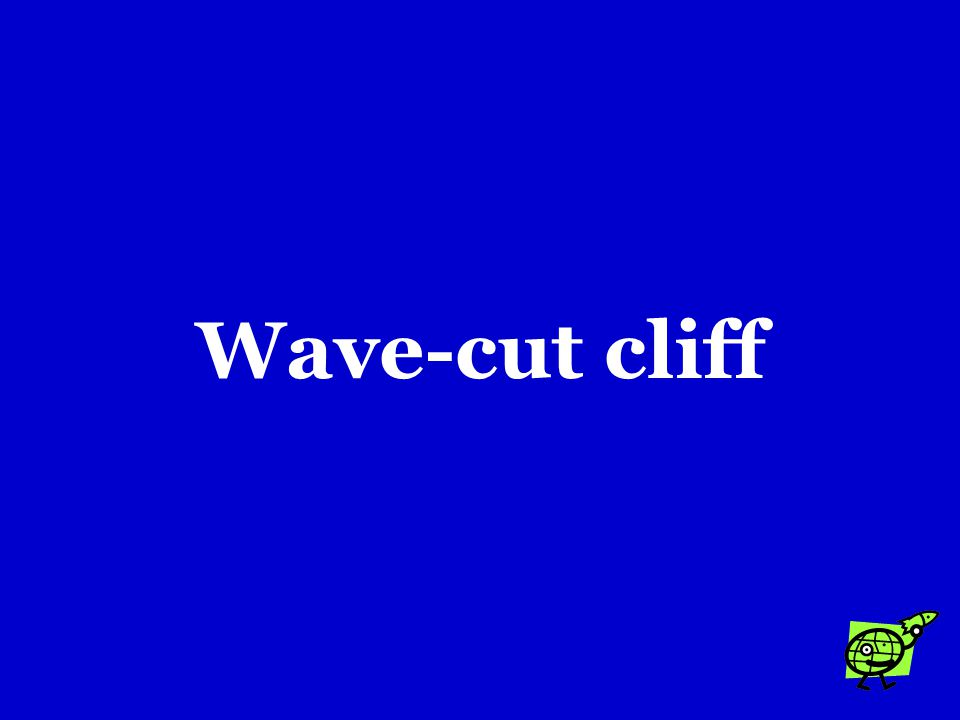 Wave-cut cliff