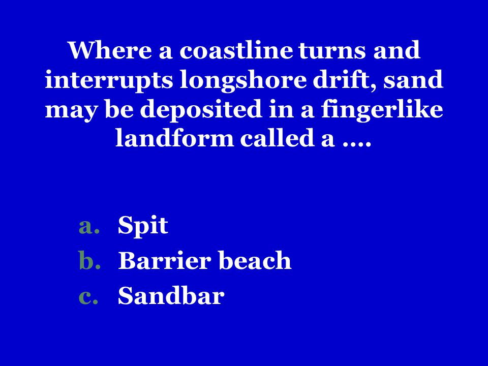 Spit Barrier beach Sandbar