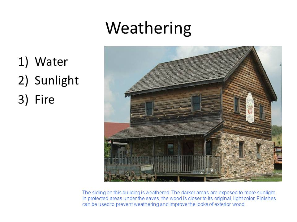 Weathering Water Sunlight Fire