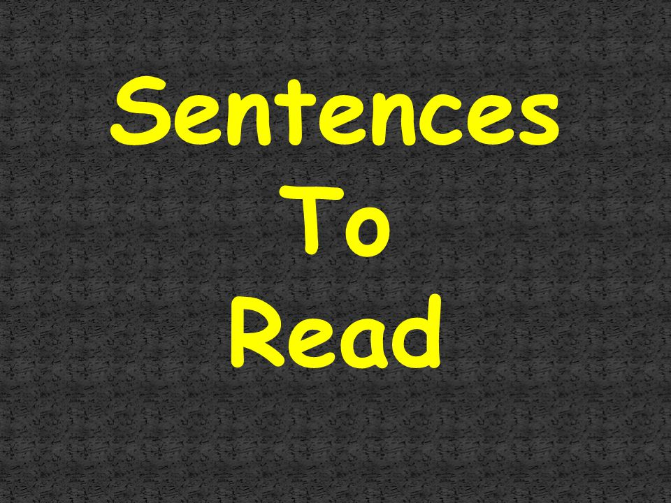 Sentences To Read