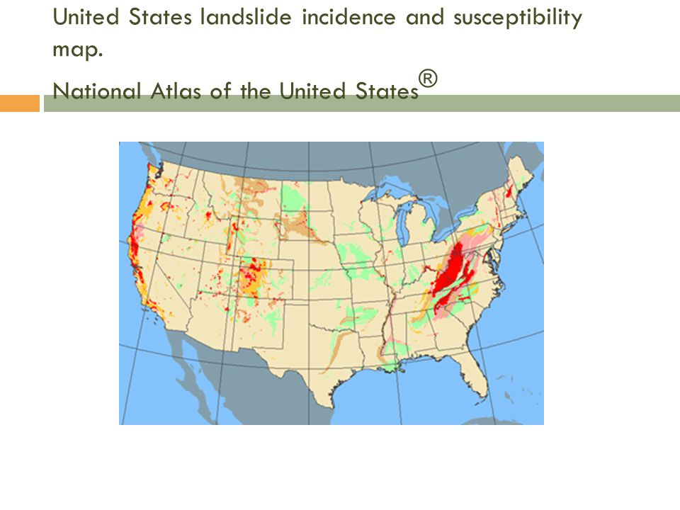 United States landslide incidence and susceptibility map