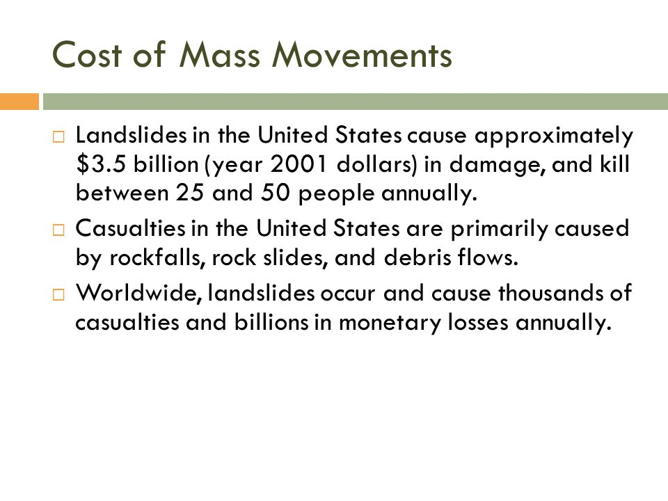 Cost of Mass Movements