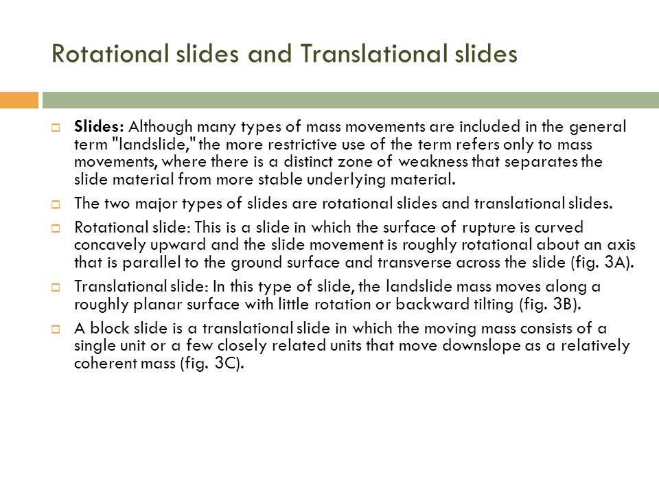 Rotational slides and Translational slides