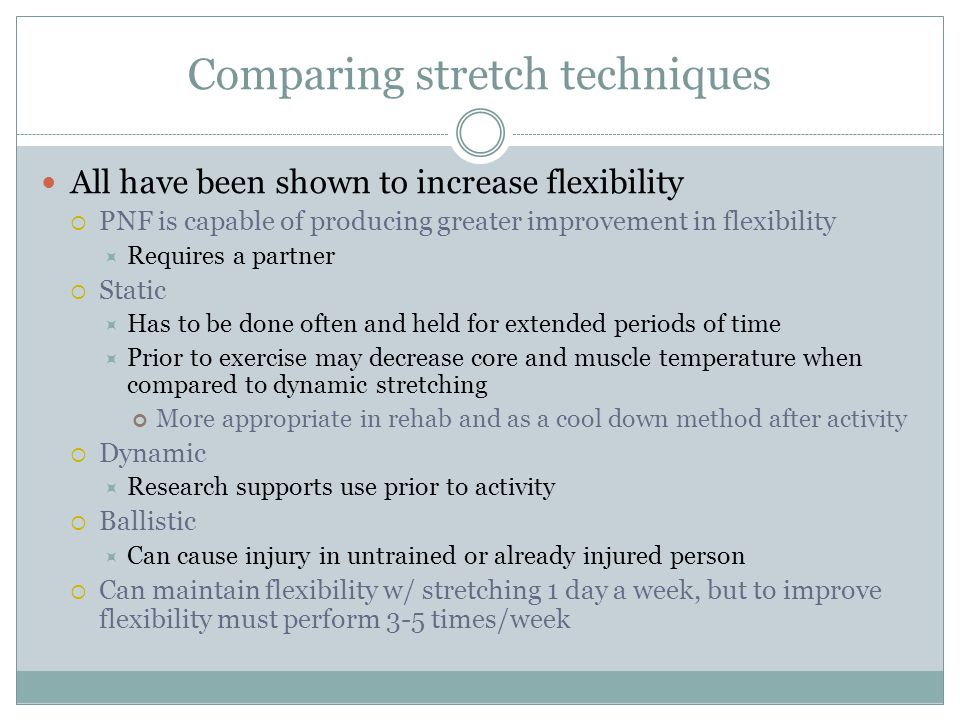 Comparing stretch techniques