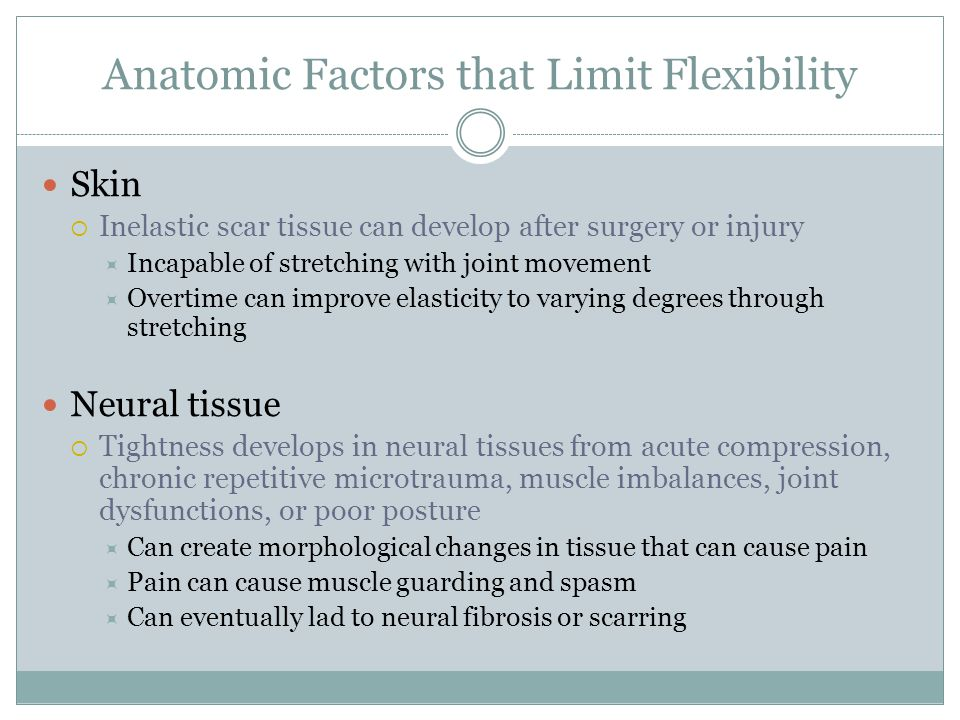Anatomic Factors that Limit Flexibility