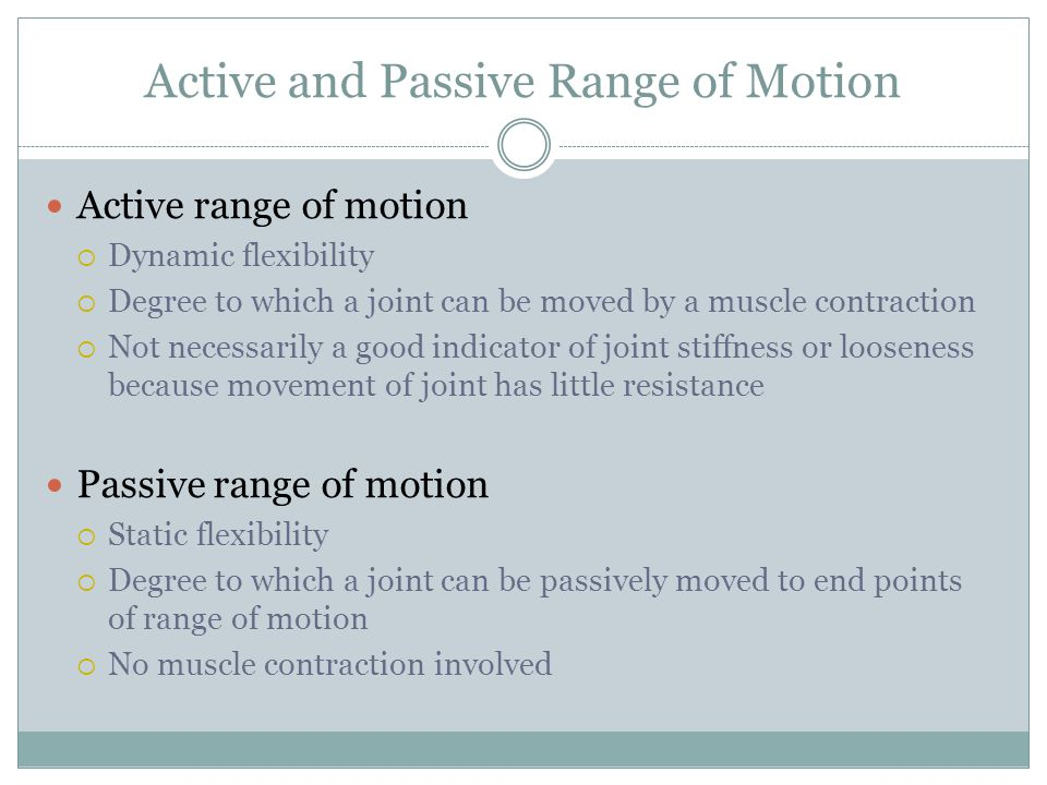 Active and Passive Range of Motion