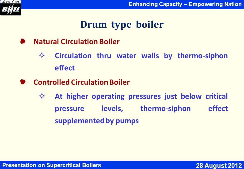 Drum type boiler Natural Circulation Boiler