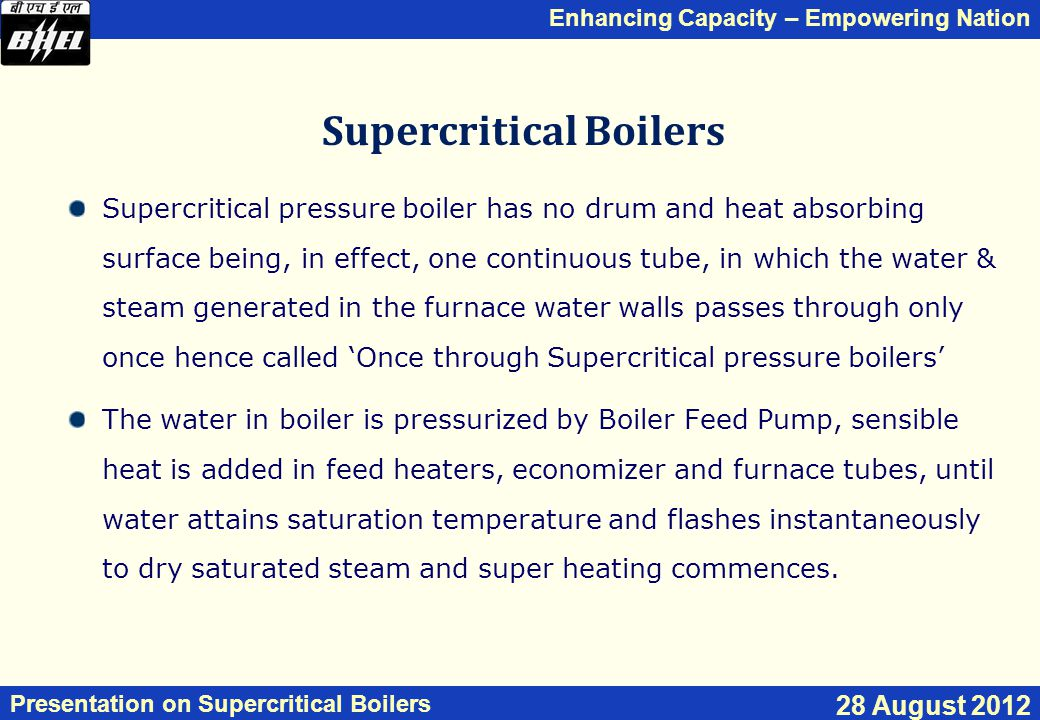 Supercritical Boilers