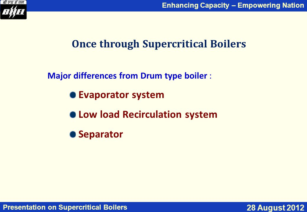 Once through Supercritical Boilers