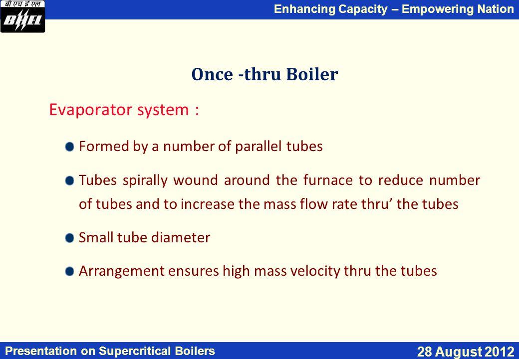 Once -thru Boiler Evaporator system :
