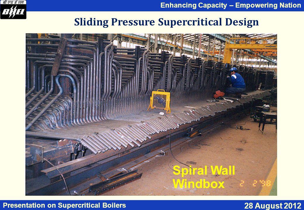 Sliding Pressure Supercritical Design
