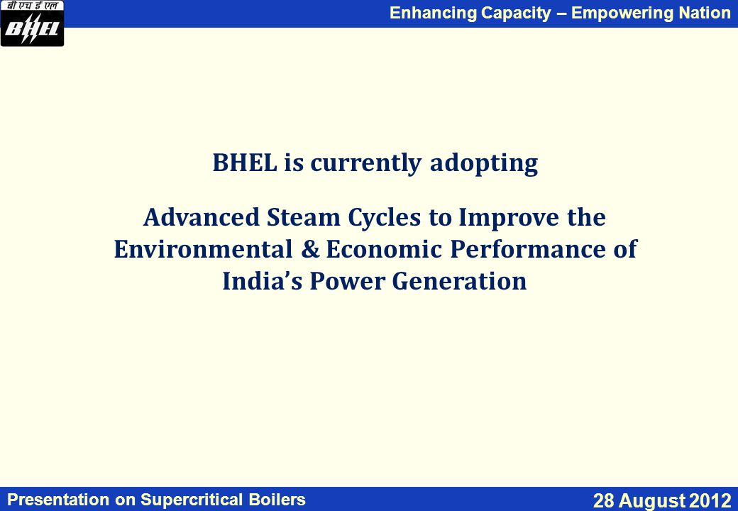 BHEL is currently adopting
