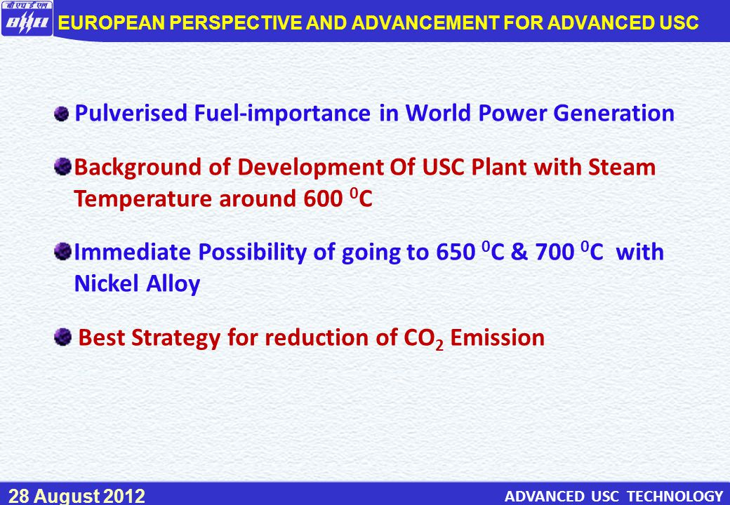 EUROPEAN PERSPECTIVE AND ADVANCEMENT FOR ADVANCED USC
