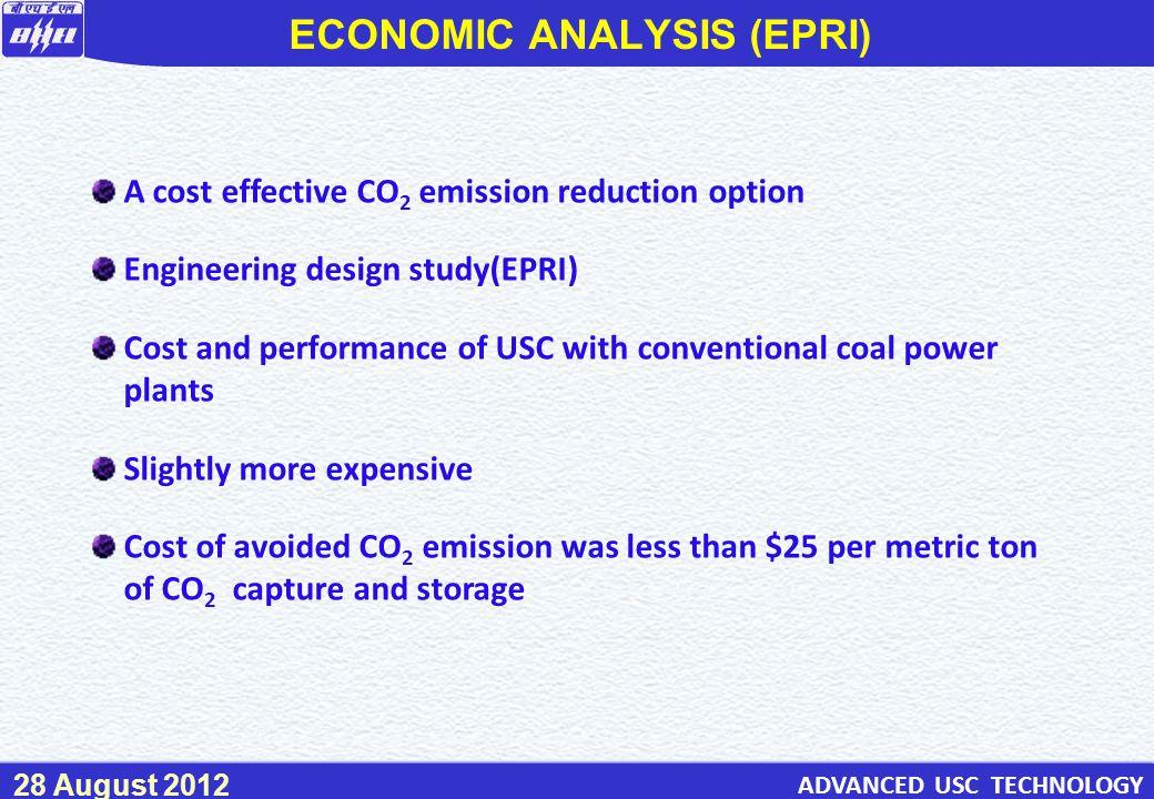 ECONOMIC ANALYSIS (EPRI)