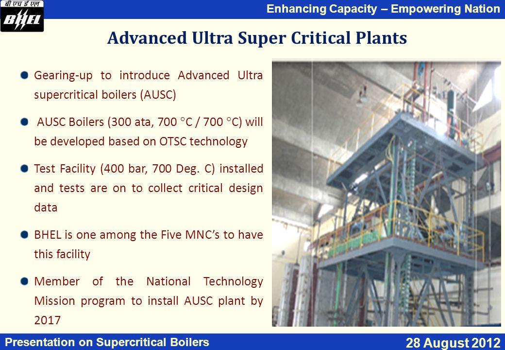 Advanced Ultra Super Critical Plants