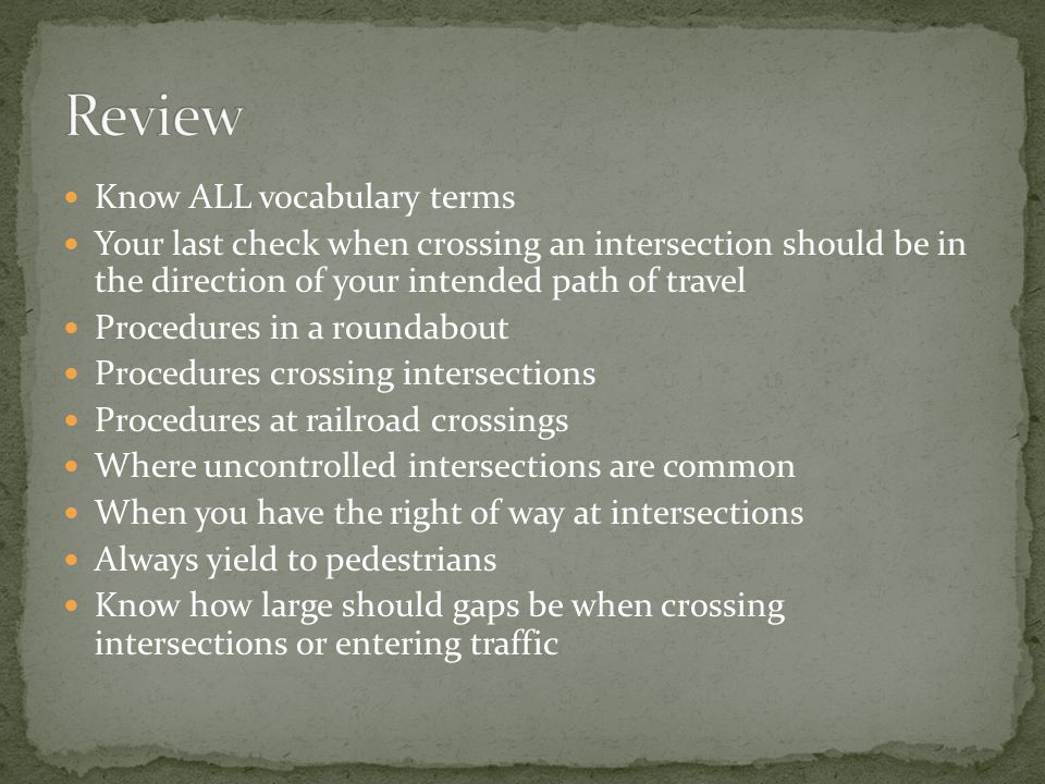 Review Know ALL vocabulary terms