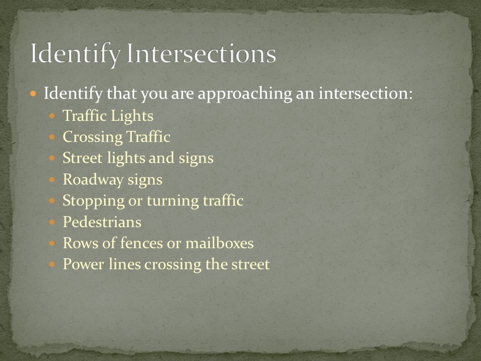 Identify Intersections