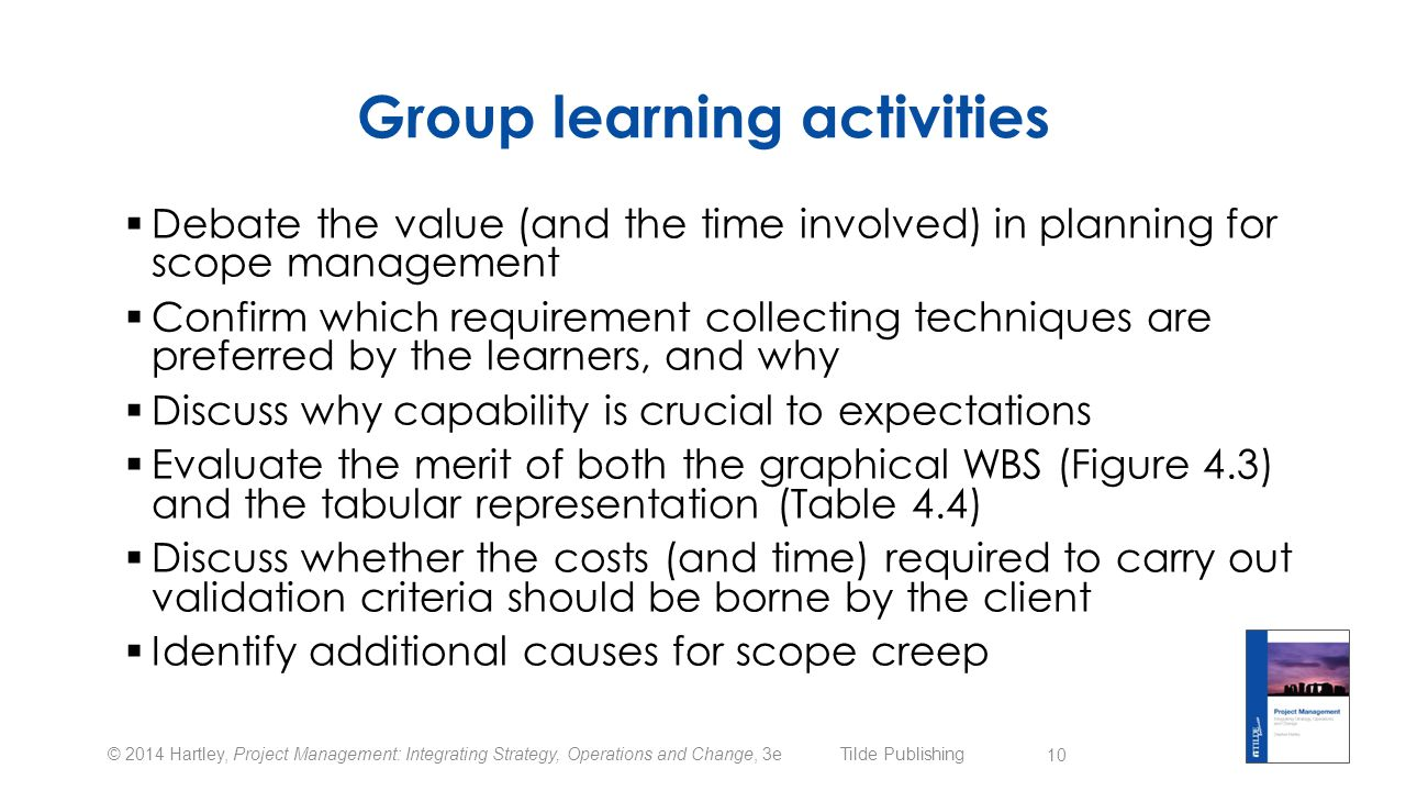 Group learning activities