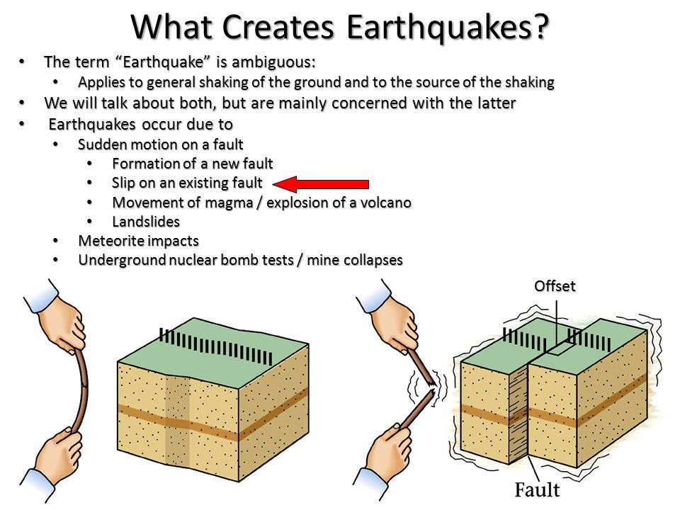 What Creates Earthquakes