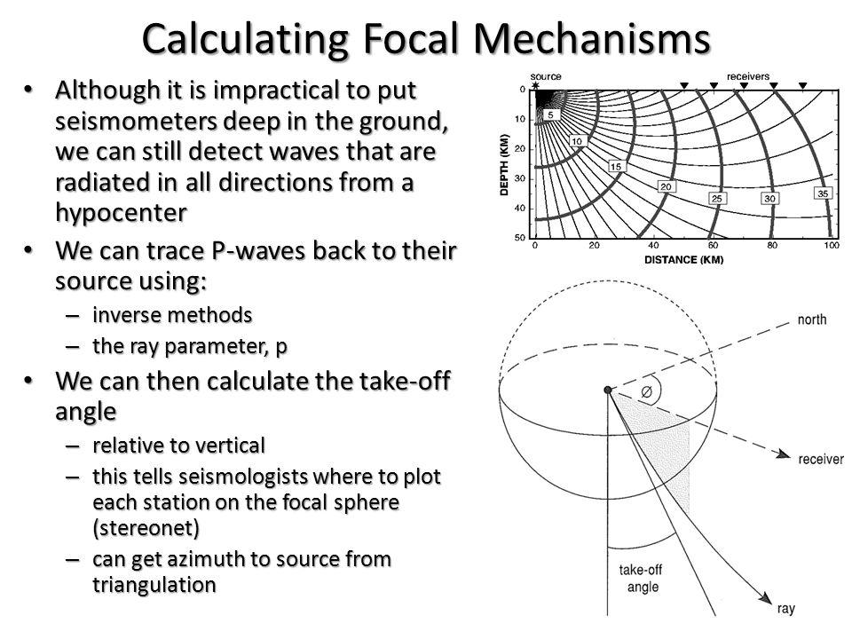 Calculating Focal Mechanisms