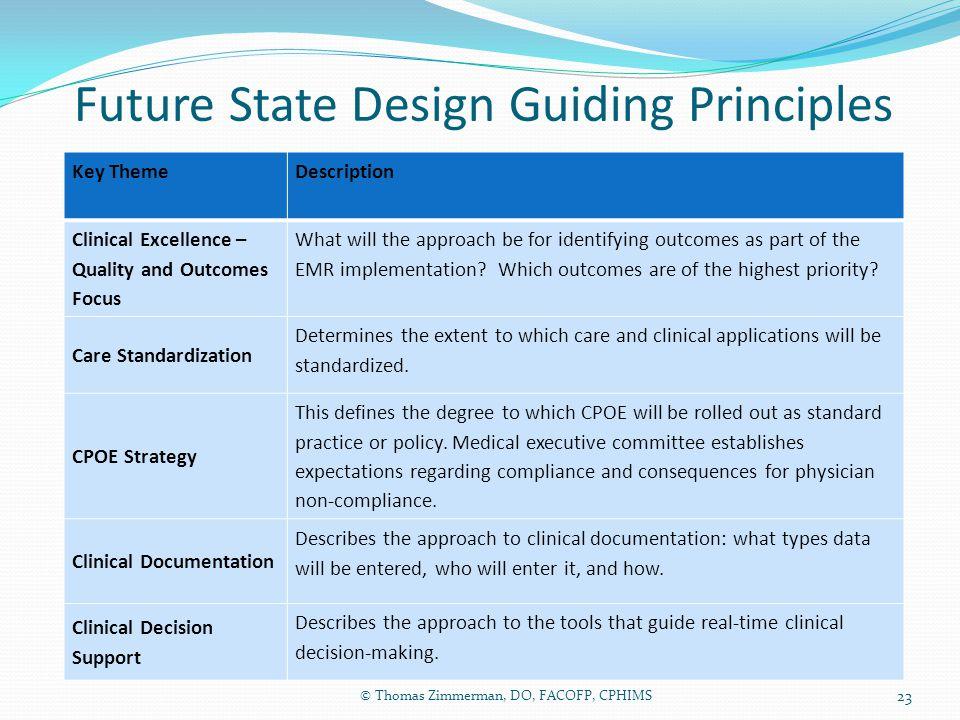 Future State Design Guiding Principles