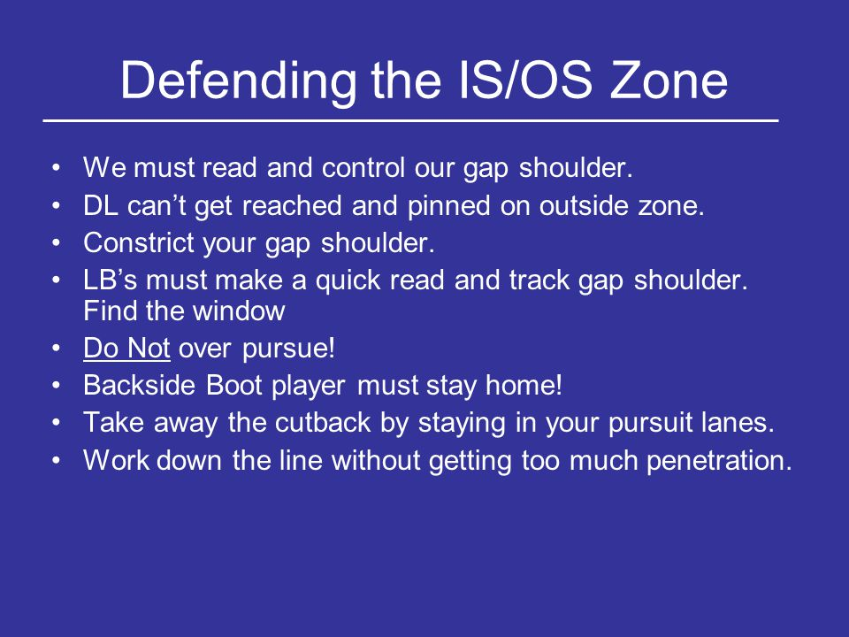 Defending the IS/OS Zone
