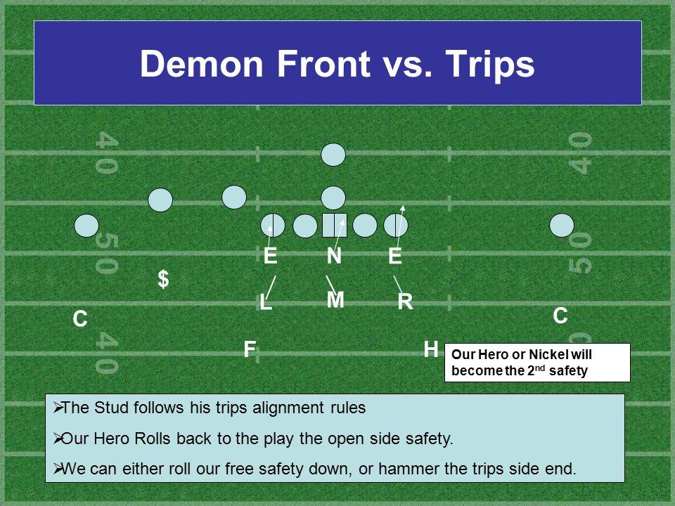 Demon Front vs. Trips E N E $ L M R C C F H