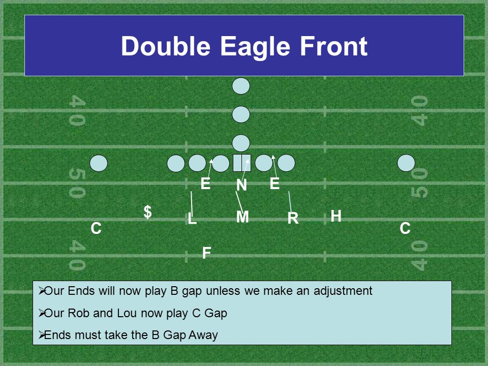 Double Eagle Front E N E $ L M R H C C F