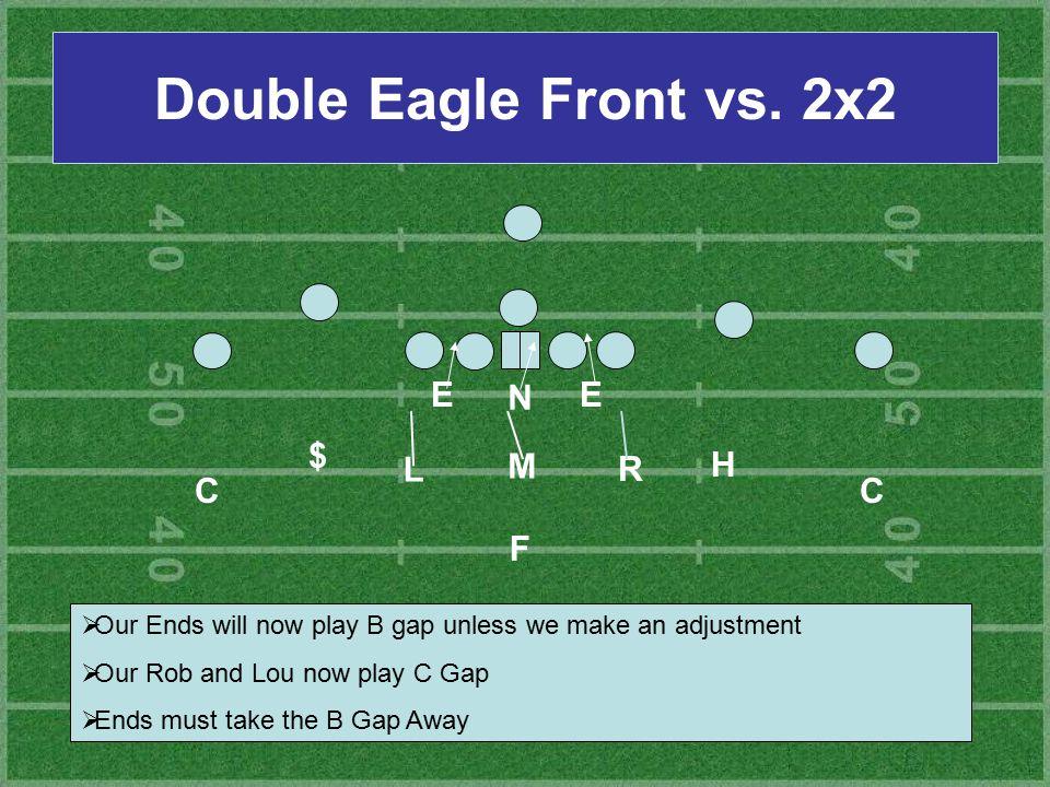 Double Eagle Front vs. 2x2 E N E $ L M R H C C F