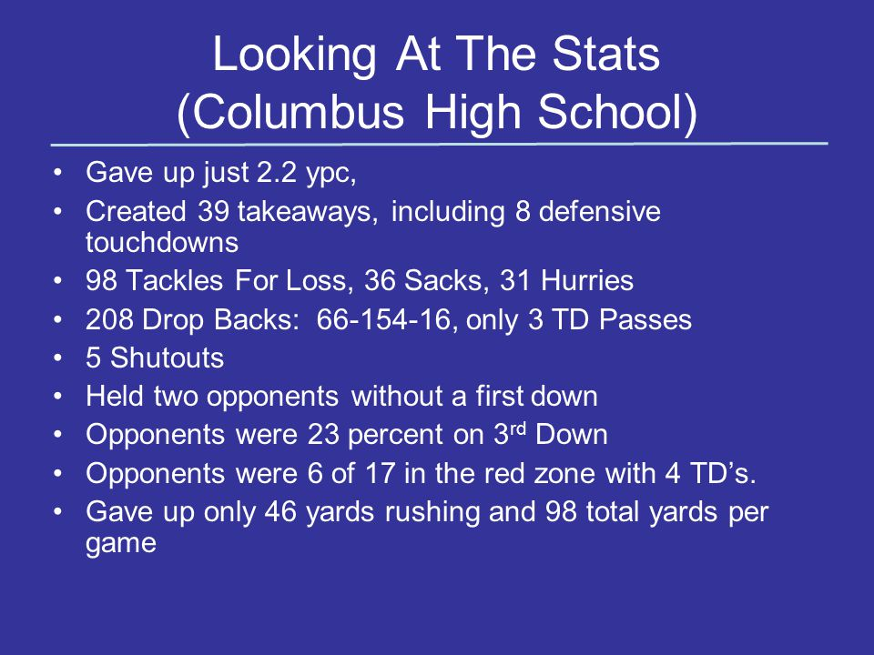 Looking At The Stats (Columbus High School)