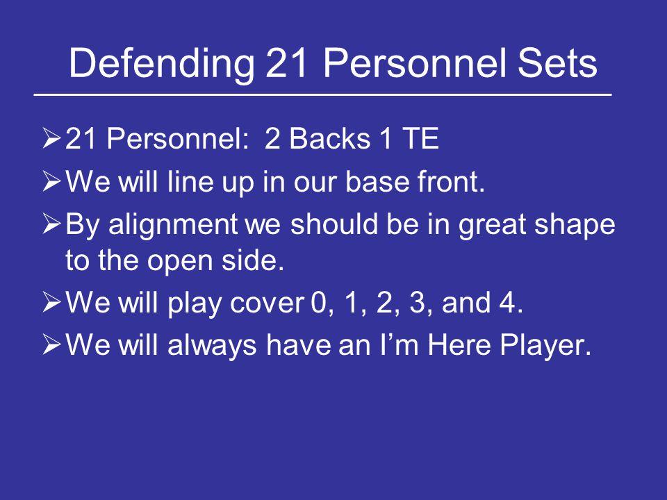 Defending 21 Personnel Sets