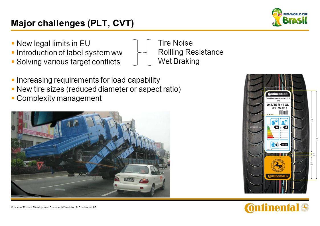 Major challenges (PLT, CVT)