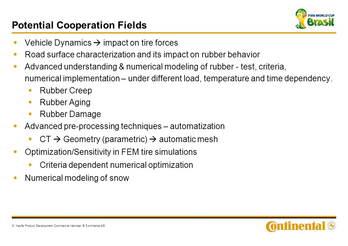 Potential Cooperation Fields