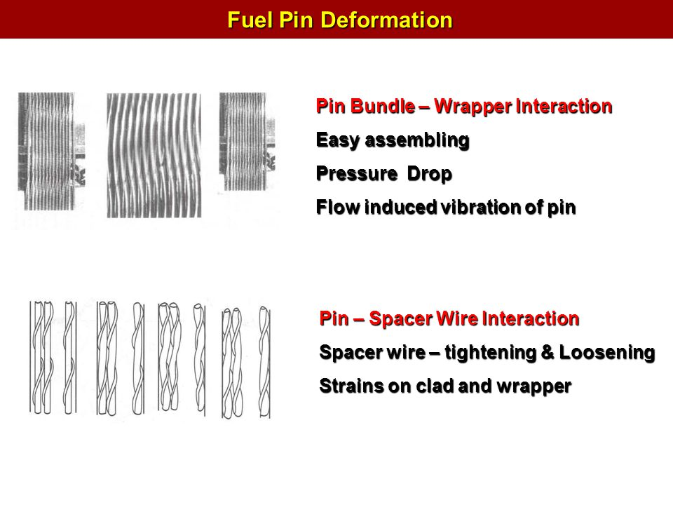 Fuel Pin Deformation Pin Bundle – Wrapper Interaction Easy assembling