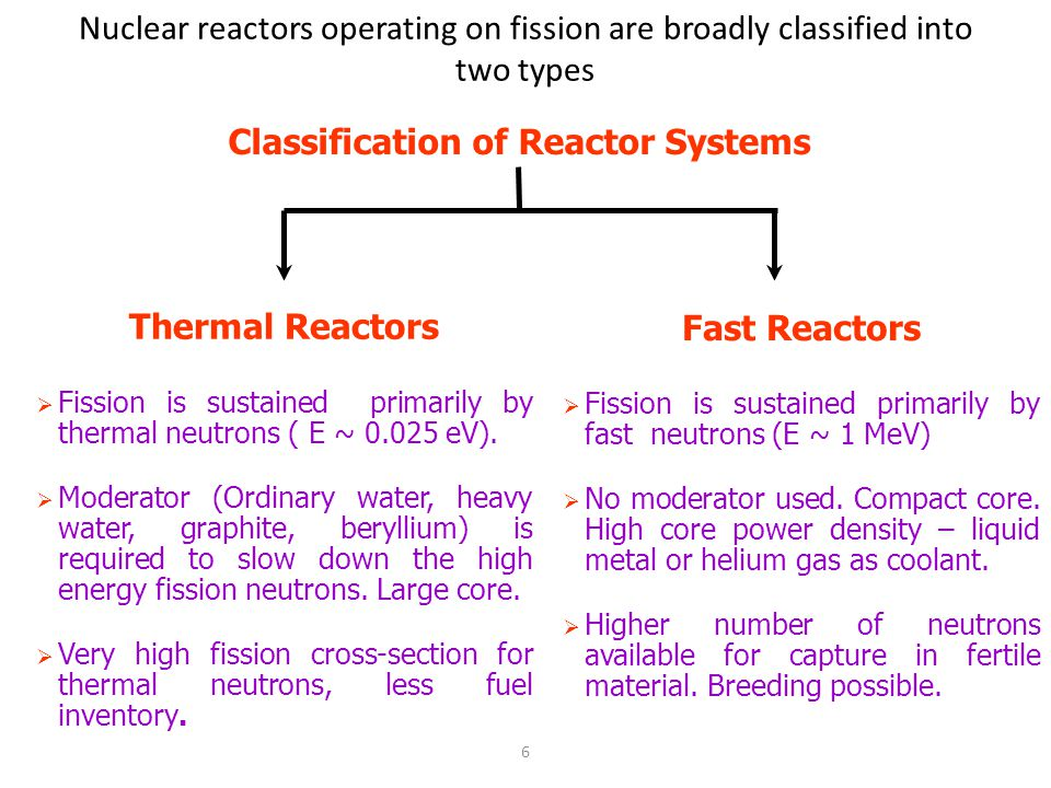 Classification of Reactor Systems