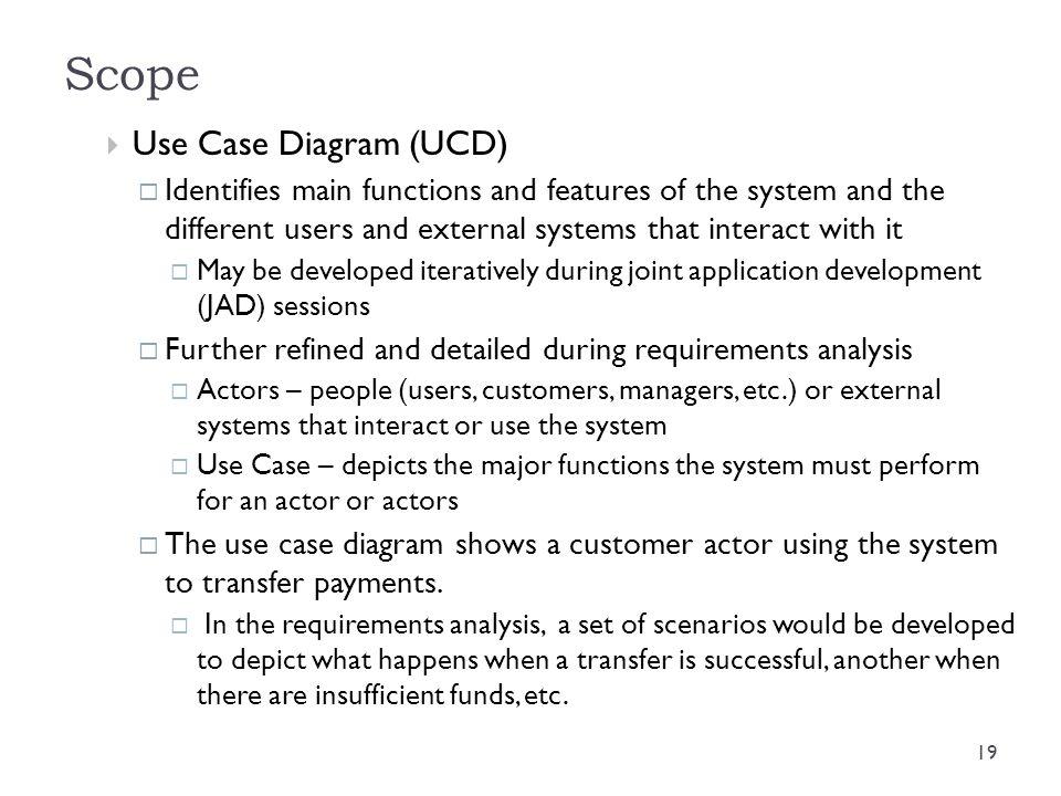 Scope Use Case Diagram (UCD)