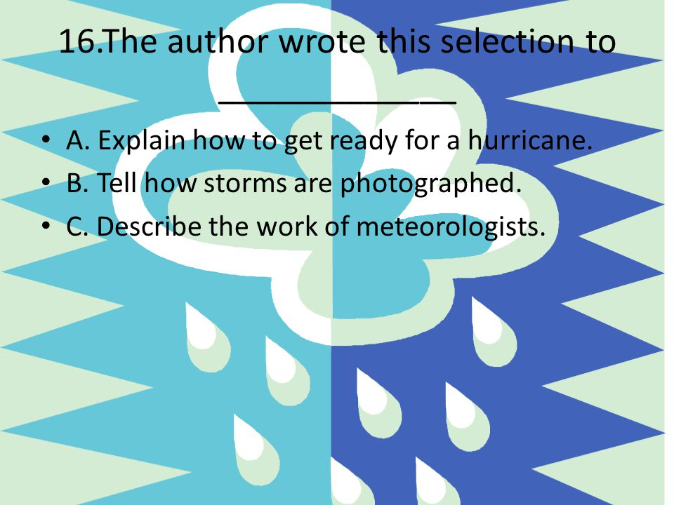 16.The author wrote this selection to _____________